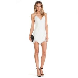 NBD Look Back at it Dress in Ivory
